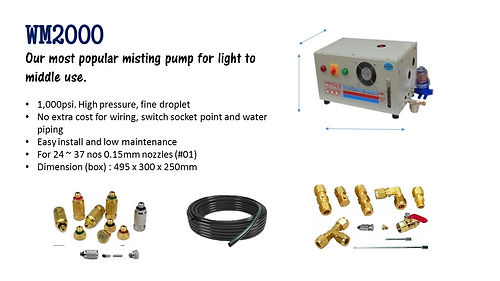 misting, cooling system, YET, nozzle, tubing, mist fan, hot solution, swiftlet farm, best