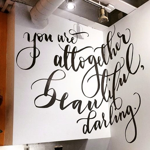 Original wall art for Darling Boutique