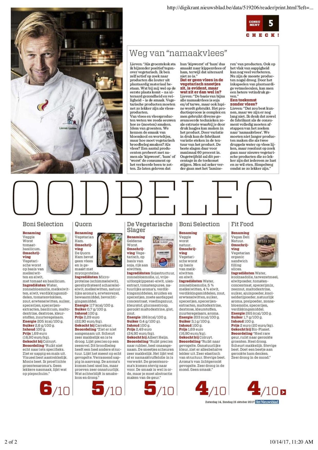 veggie broodbeleg nieuwsblad