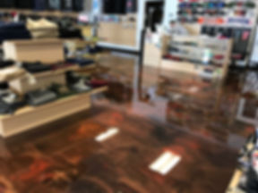 Retail store metallic epoxy