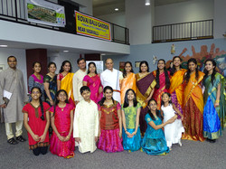 Proud guru Kiranavali with students