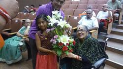 Akshara with Smt. Radha