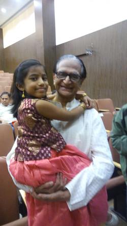 Akshara with Dr. C V Chandrasekhar