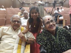 Akshara with T N Krishna & Radha