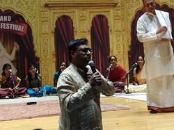 Ravikiran appreciating Guru Kiranavali