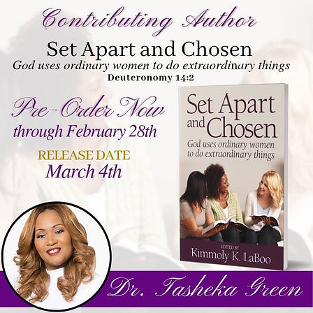 Tasheka Green Book Set Apart and Chosen.
