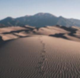 Traces de pas dans le sable
