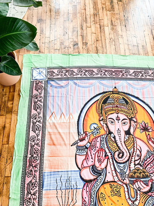 Colorful Ganesh Tapestry Blanket