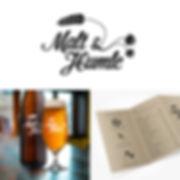 Malt & Humle logo identitet