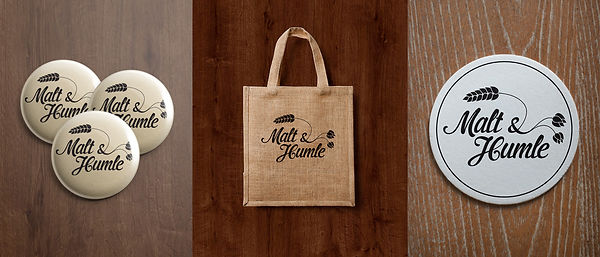 Malt & Humle buttons bag coaster