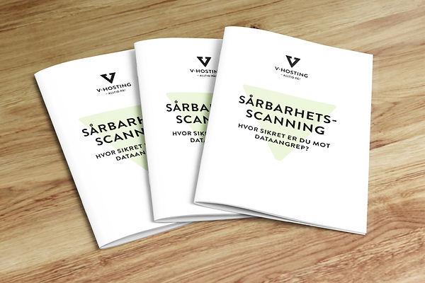 V-Hosting brosjyre sårbarhetsscanning