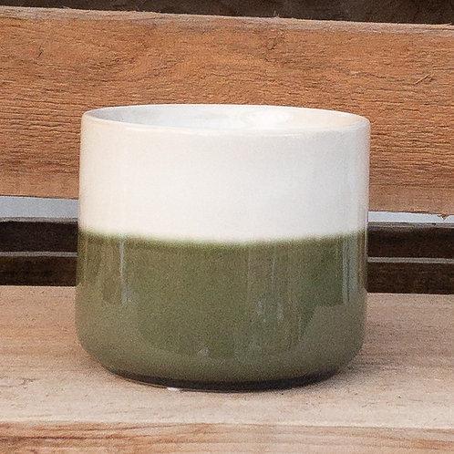 Green & White Ceramic