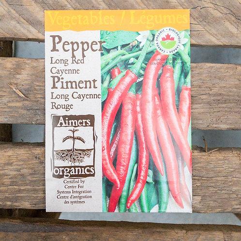Pepper - Long Red Cayenne - Organic