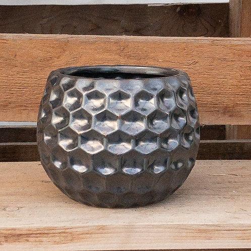 Silver Textured Round