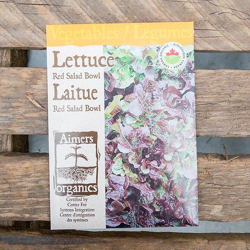 Lettuce - Red Salad Bowl - Organic