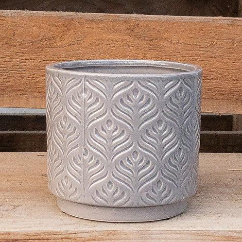 Grey Texture Pot