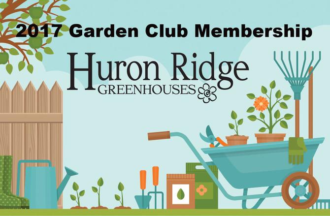 Announcing our new Huron Ridge Garden Club