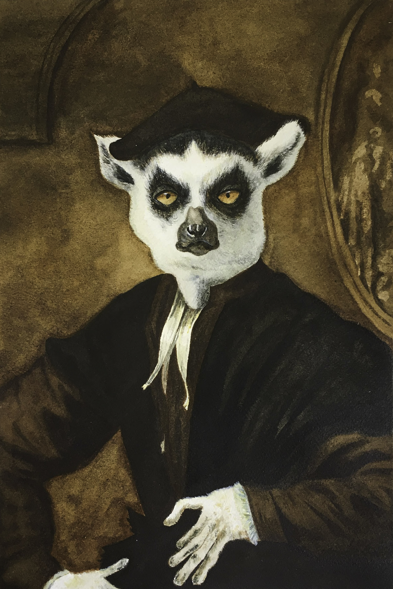Portrait of a Young Lemur