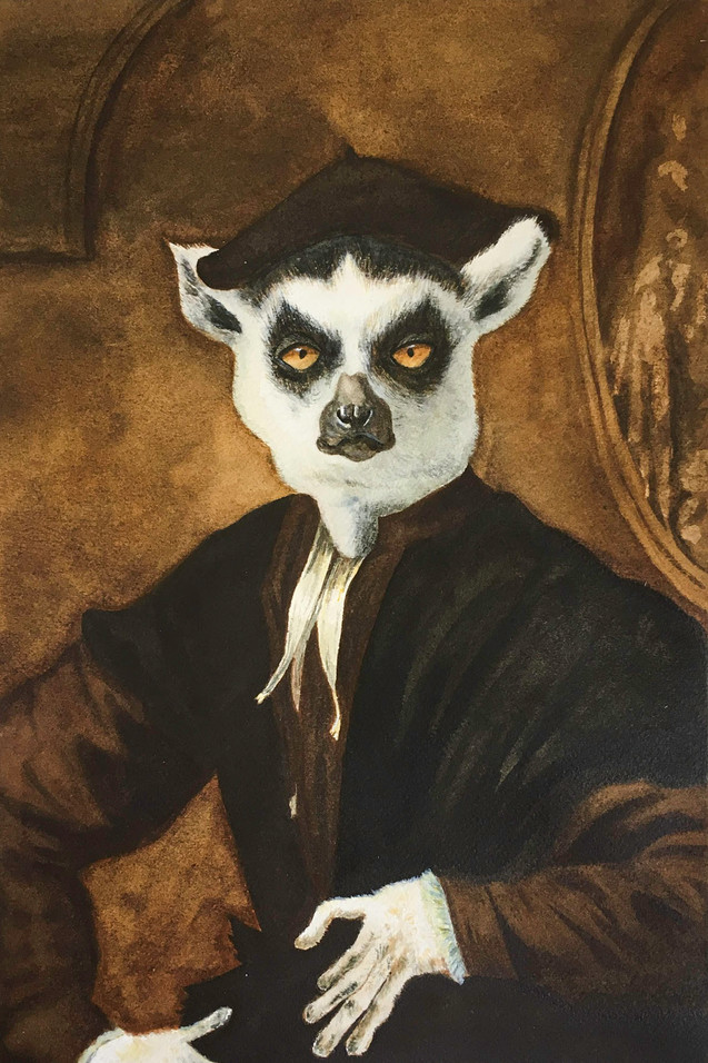 Portrait of a Yound Lemur