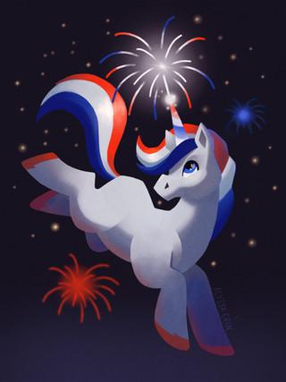 4th of July Unicorn