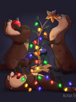 Otterly adorable Christmas