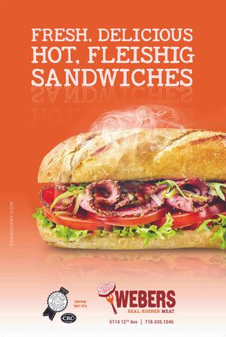 Webers Sandwich Ad