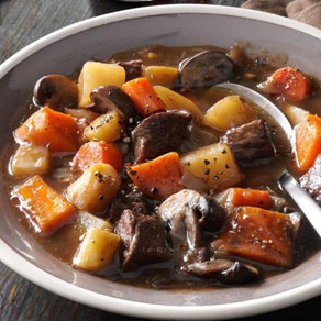Beef, Sweet Potato and Mushroom Stew