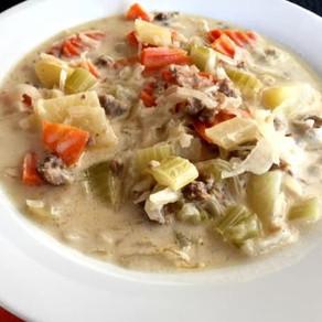 Sauerkraut, Bratwurst and Potato Soup