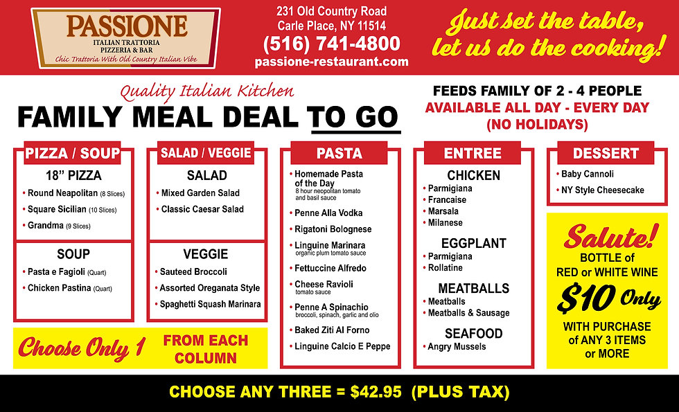Passione Family Meal Deal Flyer 2021 .jp