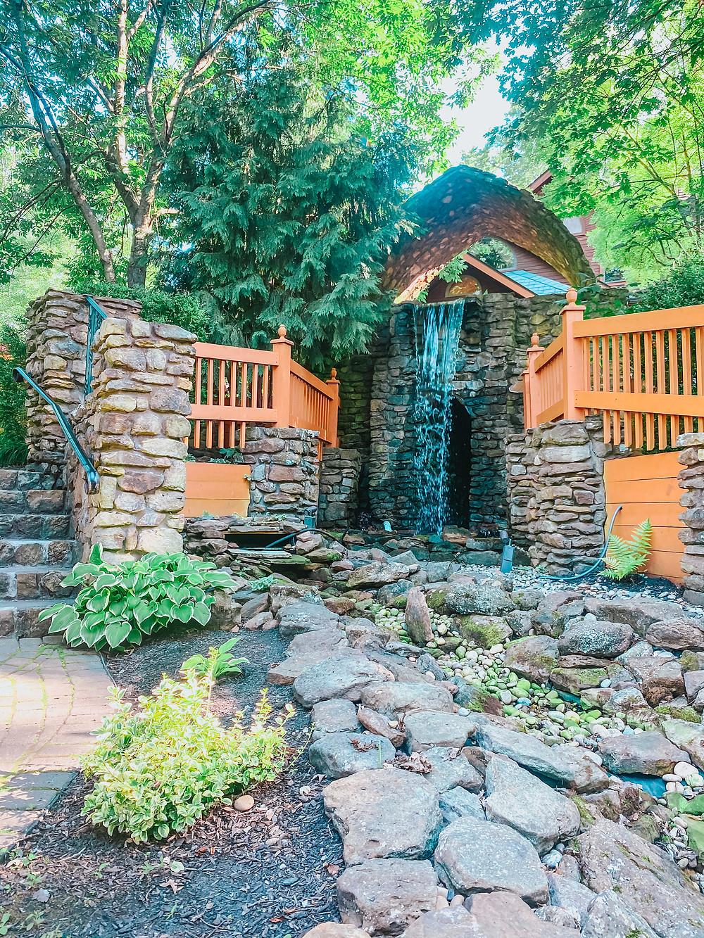 Landoll's Castle Outdoor Fountain