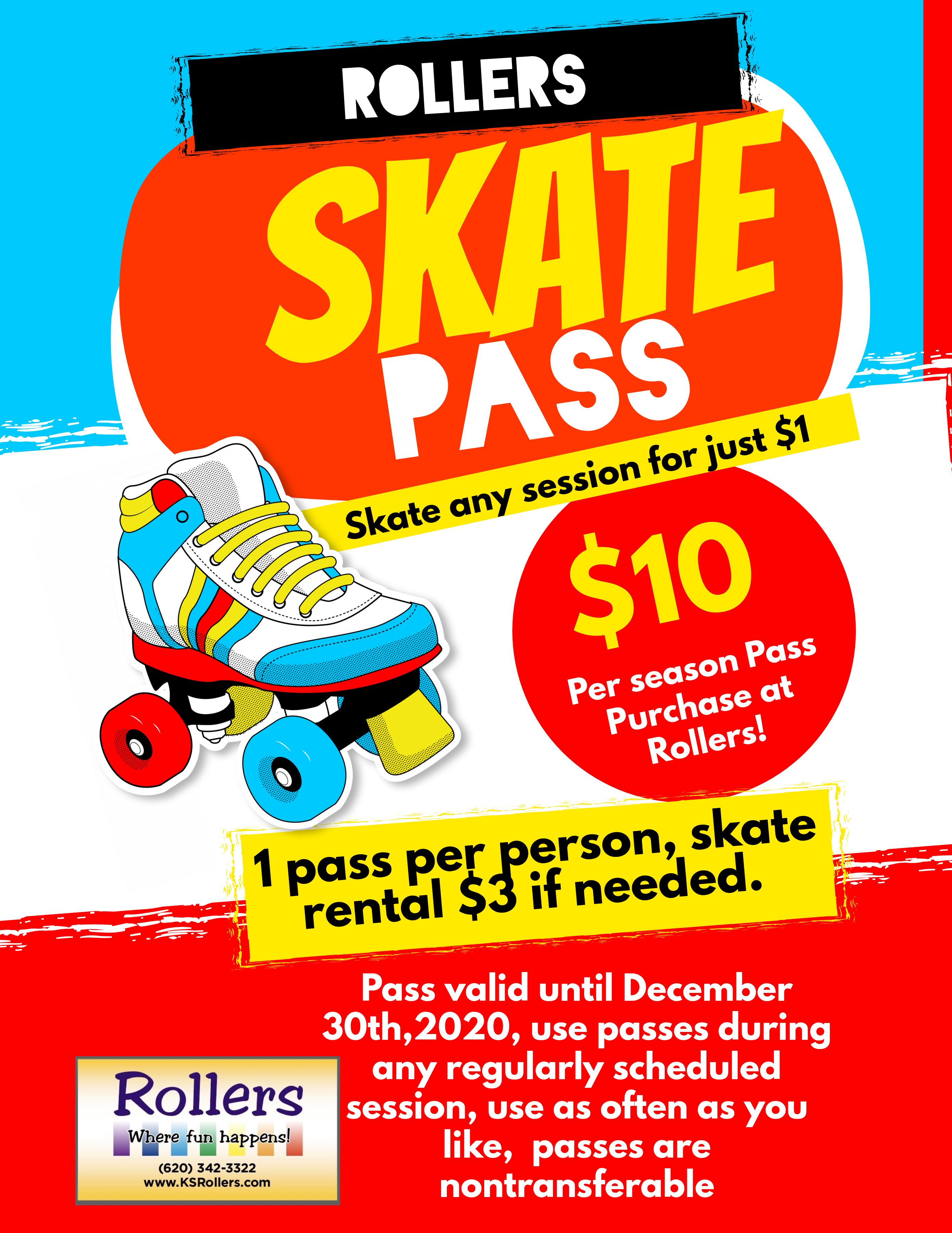 Copy of Skates Rental Service Poster Fly