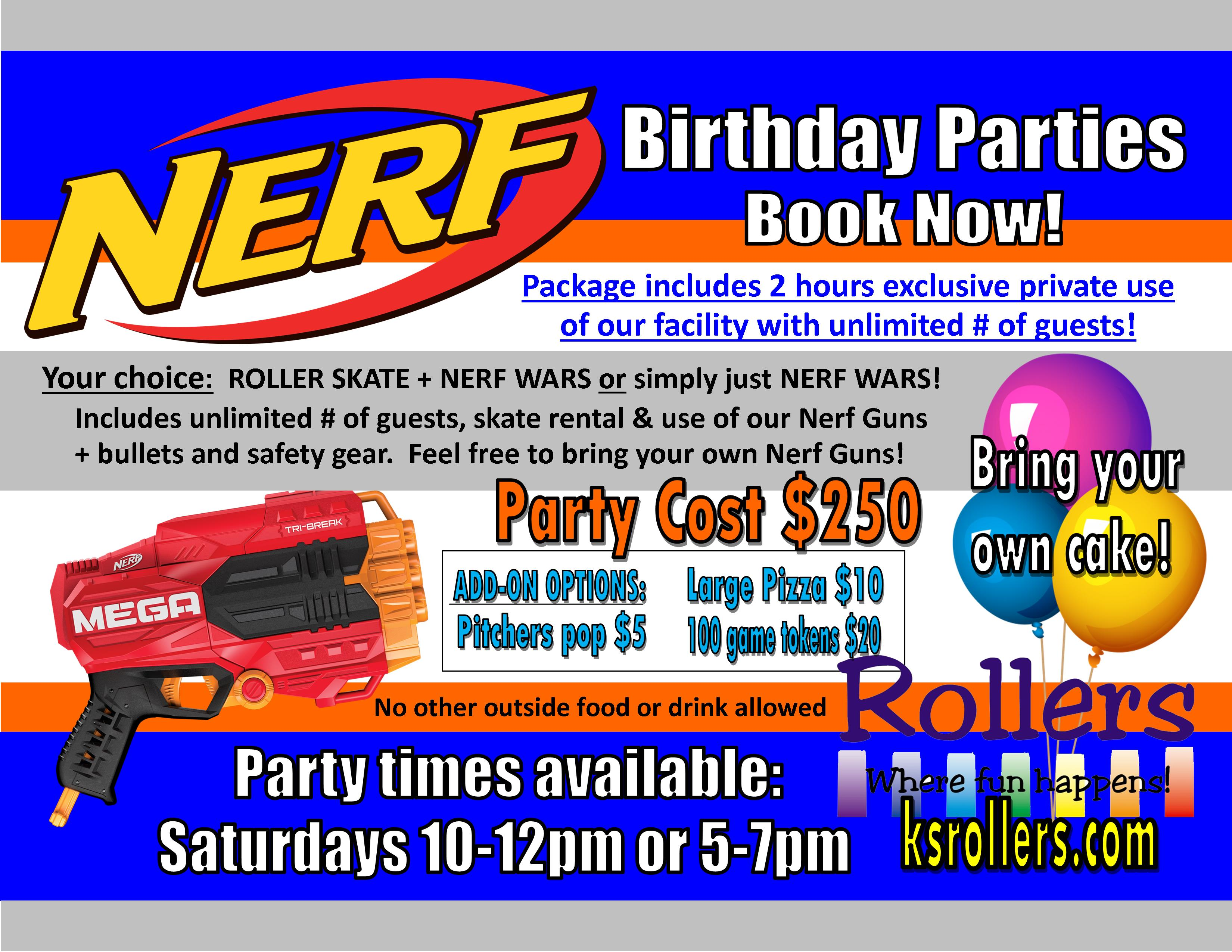 Nerf Birthday Parties