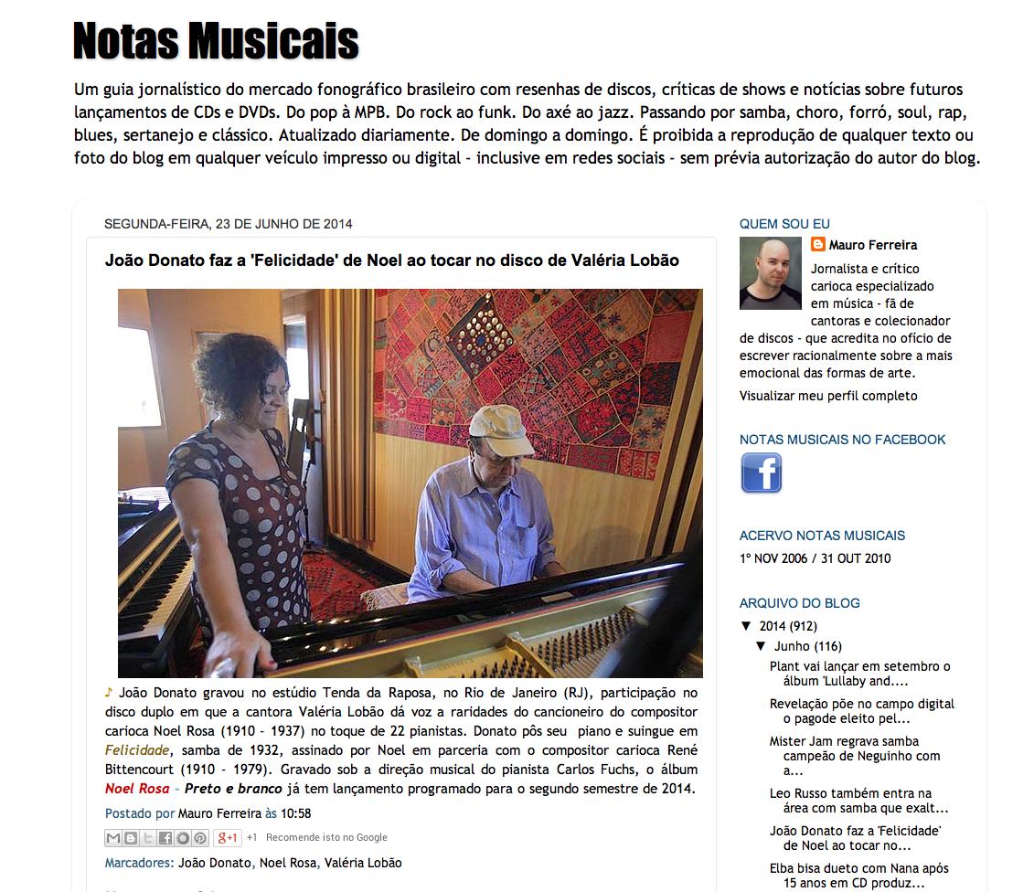 BLOG NOTAS MUSICAIS - 23.06.14