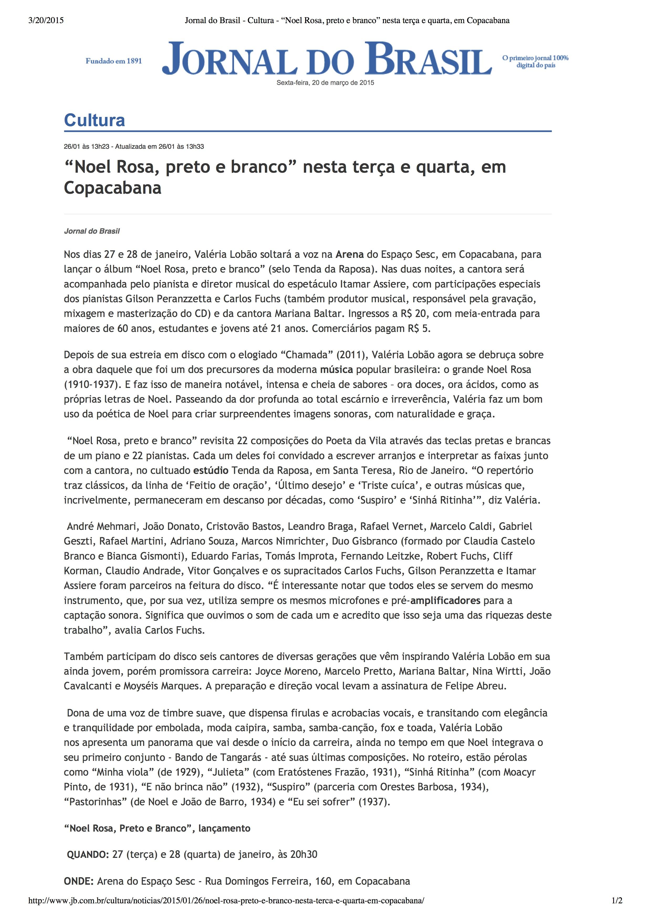 JORNAL DO BRASIL - 01.2015
