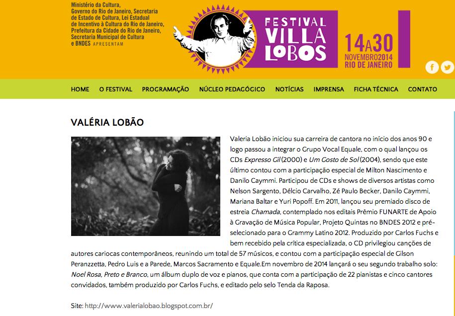 FESTIVAL VILLA-LOBOS - nov 2014