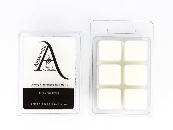 sandalwood and spice wax melts pack clamshell 6 cubes fragranced wax melts with armonie logo label