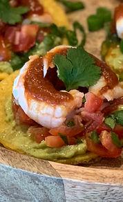 Mini tortilla shrimp and Baja sauce.jpg