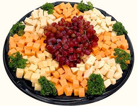 Cheese Tray with Grapes