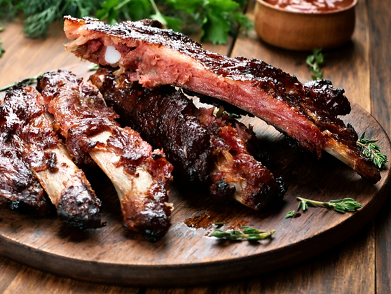 2 Racks of Pork Ribs (2 rack minimum click here)