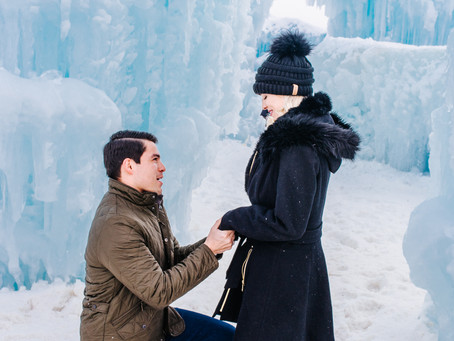 Winter Session Location | The Ice Castles in Dillon, CO