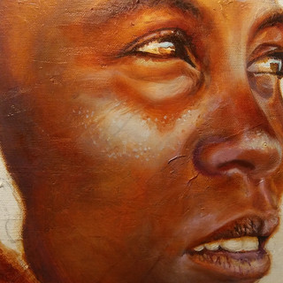 African Woman1 - 24x28 Oil on canvas