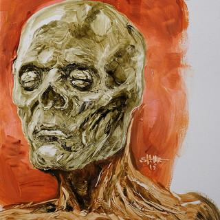 Zombie - Oil on panel board 2019
