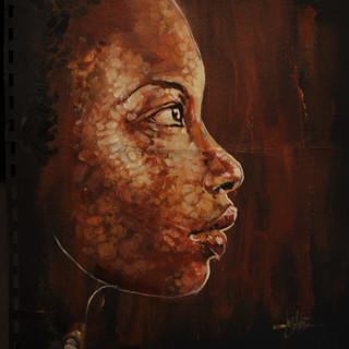 Profile - 8x10 - Oil on paper - 2009