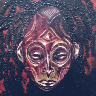 Chokwe Dreads - 12x12 Oil & Acylic on ca