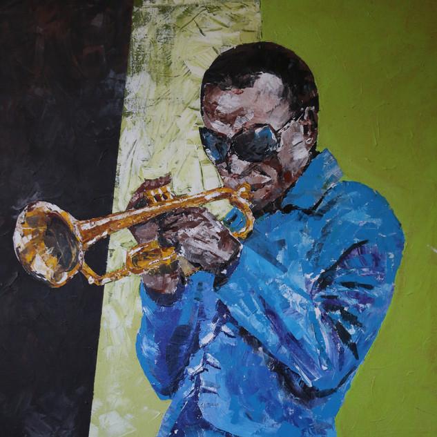 Miles Blue - 26x30 Acrylic on canvas 200