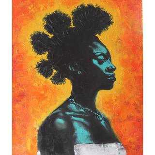 Bantu Woman - 11x14 Oil & Acrylic on Can