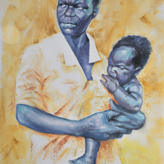 Mother & Child 1 - 16x20 Oil on canvas -