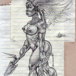 Warrior Priestess - Pencil - 2009