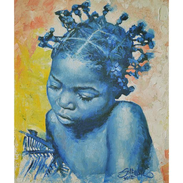 Little Braids - 8x10 Oil on canvas 2015