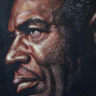 Howlin' Wolf - 24x28 Oil on canvas - 200